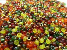 8/0 Autumn Bead Mix Miyuki Round Glass Seed Beads 10 Grams
