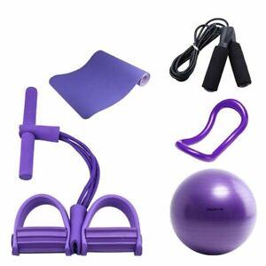 purple yoga fitness kit yoga ring mat ball skipping rope