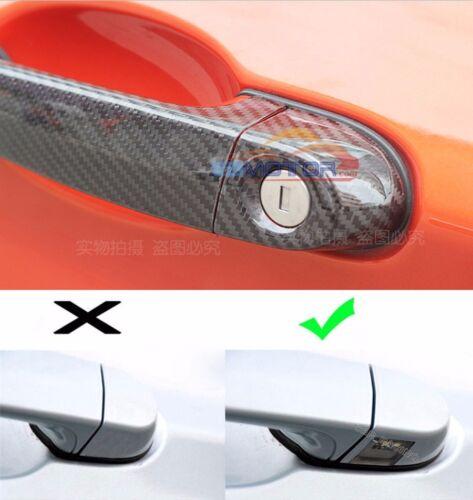 Carbon Fiber New Door Handle Bar Cover For BMW E70 E90 E93 F30 4D 05-15 LHD b222