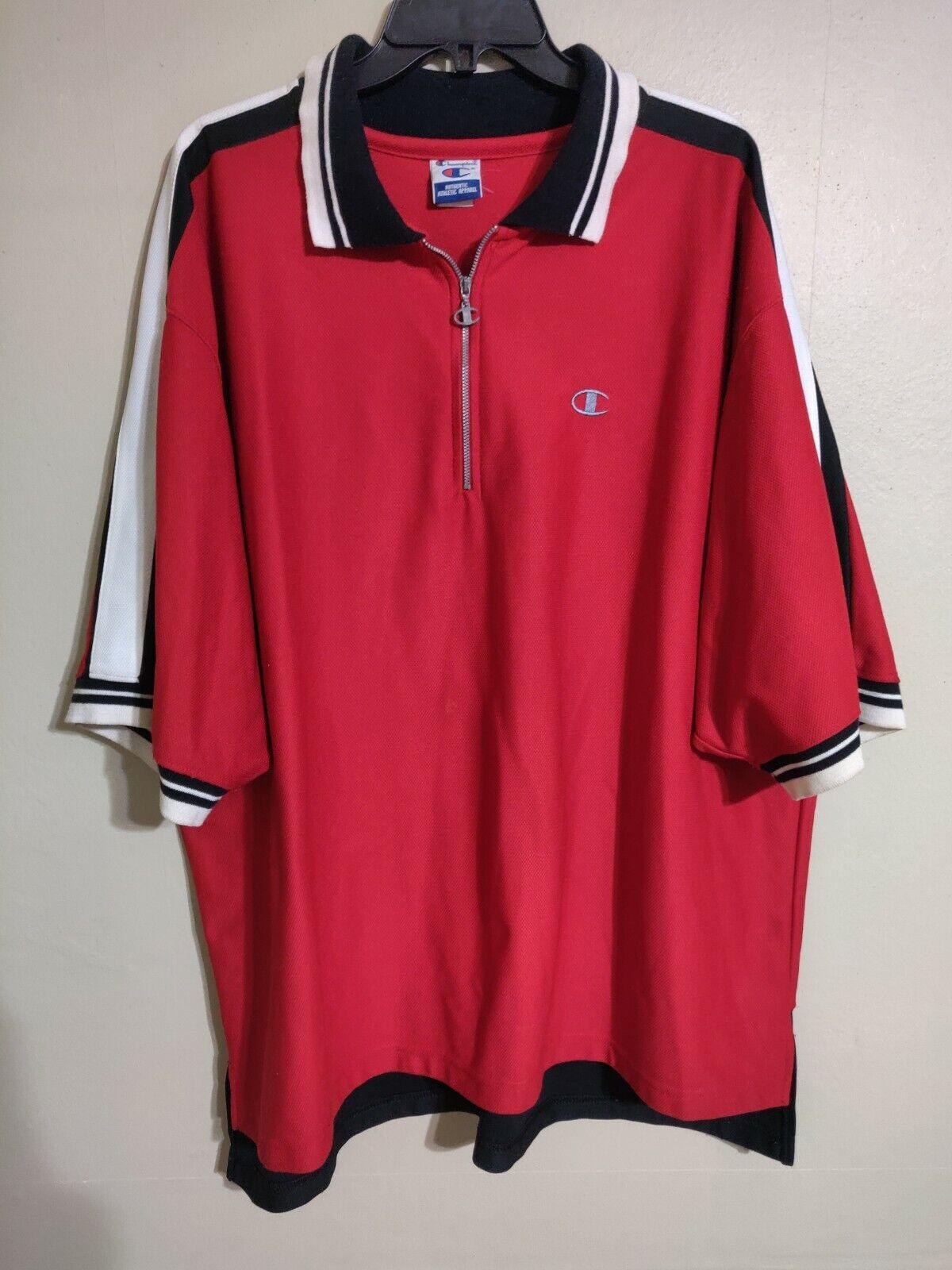 Vintage Champion Made in USA 1 4 Zip Basketball Shooting Warm Up Shirt Men's 2XL