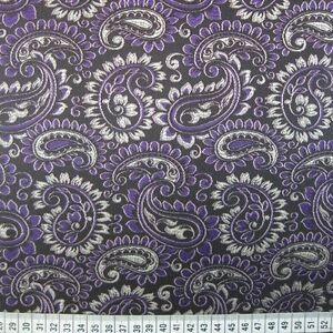 37c477e02 Image is loading Purple-Black-Paisley-Indian-Brocade-jacket -waistcoats-Fabric-