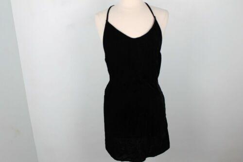 3x1 NYC Women's Black Velvet Ellie Slip Backless D