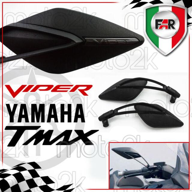 COPPIA SPECCHIETTI RETROVISORI VIPER 8 PER YAMAHA T-MAX 530 2013 OMOLOGATO MANUBRIO