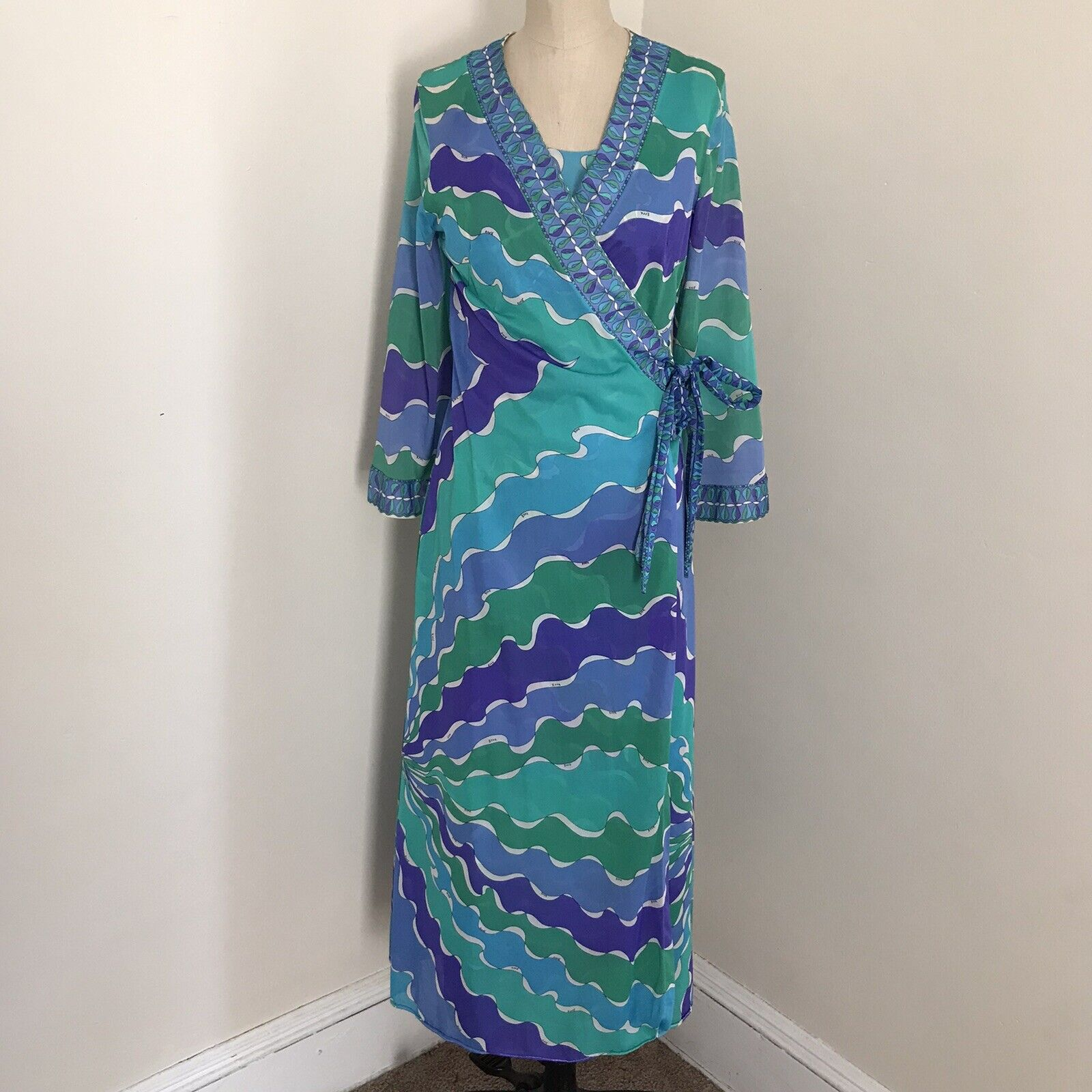Emilio Pucci Formfit Rogers Nightgown Robe Vintage Small Negligee Italy