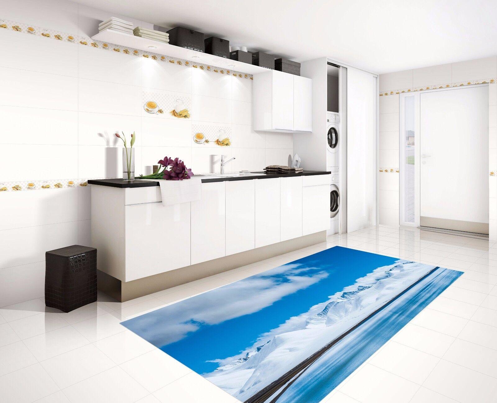 3D Snowy Hills 75 Kitchen Mat Floor Murals Wall Print Wall AJ WALLPAPER AU Carly