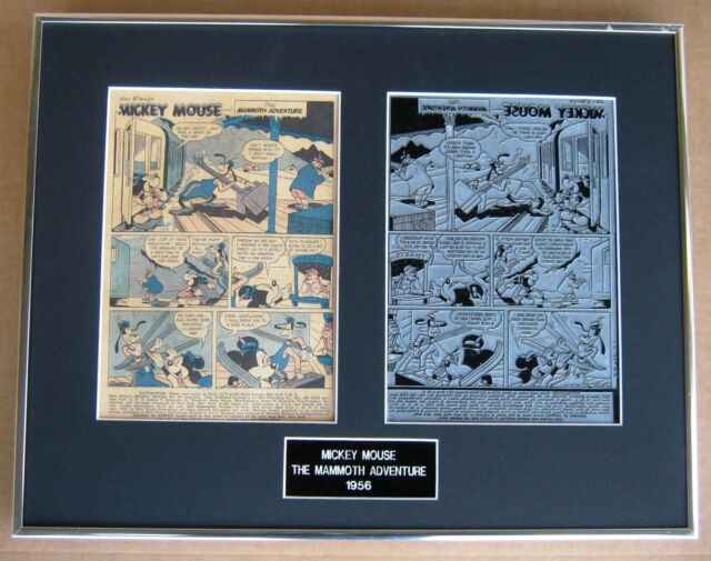 Mickey Mouse Vintage 1956 Printing Plate & Page !