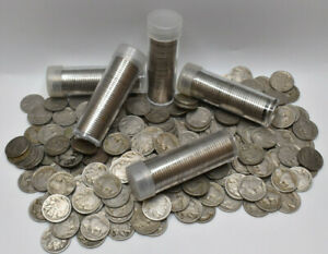 Full-Roll-40-Indian-Head-Buffalo-Nickels-Coin-Roll-Partial-Date-Set-Collectible