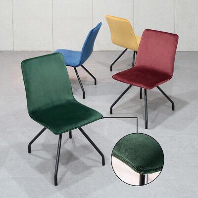 Set Of 2 Kitchen Dining Chair Modern Accent Chair Velvet Armless Yellow/Green