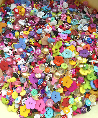 DIY 160 Pcs Mixed size Colour resin button fit Sewing and Scrapbooking
