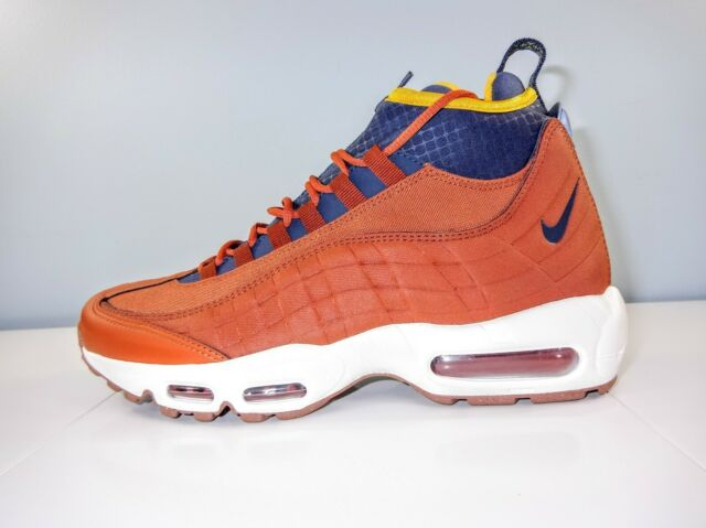 sale retailer 2018 shoes 100% top quality Men's Nike Air Max 95 SneakerBoot 806809-204 Russet/Blue/Yellow Size 9 MSRP  $200