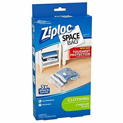 Ziploc Space Bag 2 Piece Flat Vacuum Storage Bags 2