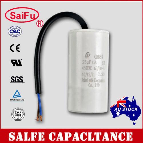 CBB60 Appliance Motor Run Capacitor wire Lead AC 450V 50//60Hz 25uF OZ SELLER