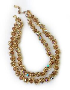 Vendome-Champagne-Aurora-Borealis-Crystal-and-Twisted-Chain-Necklace