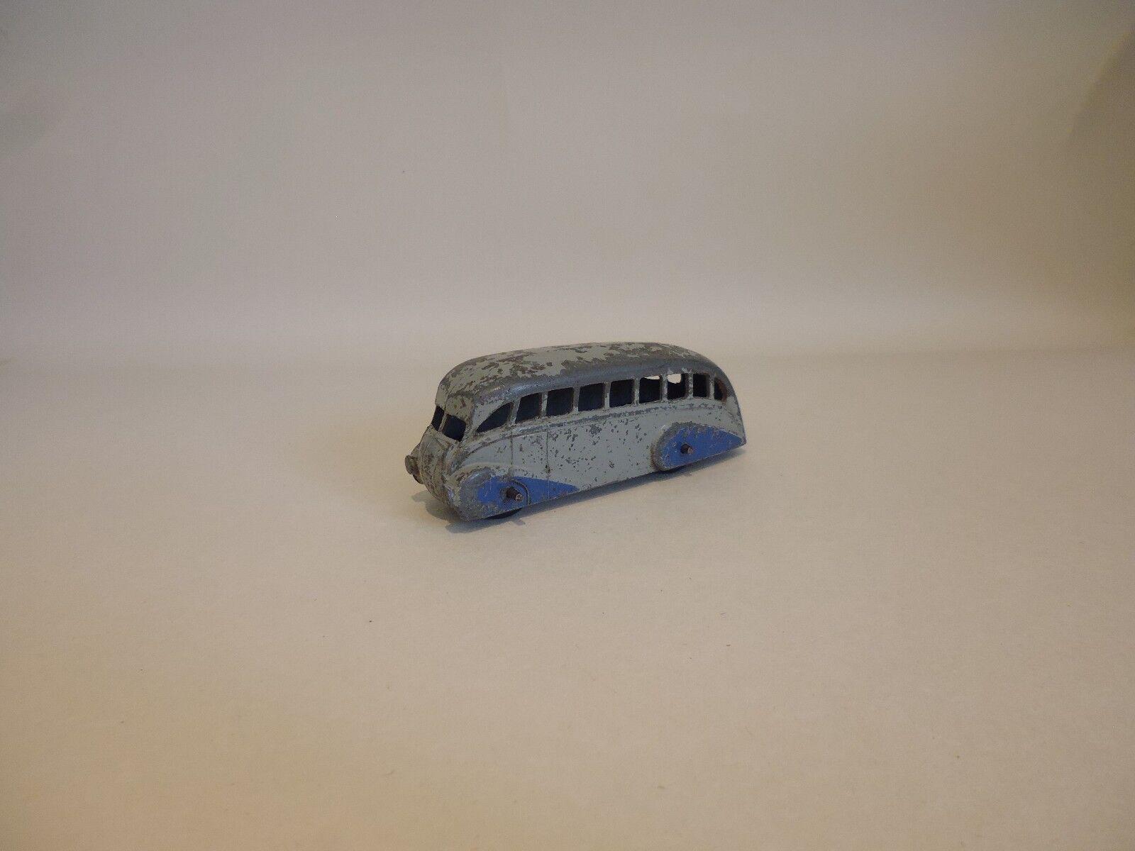 Dinky Juguetes-RARE VINTAGE optimizar Bus-Cuerpo gris azul Tapacubos no. 29b