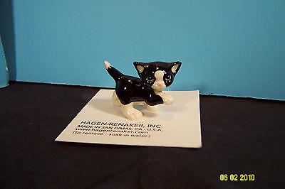 HAGEN RENAKER Playful Kitten W/Paw Up Ceramic Cat Figurine-New On Card