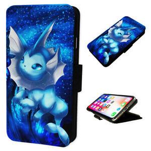 Vaporeon Pokemon Flip Phone Case Wallet Cover Fits Iphone Samsung Ebay
