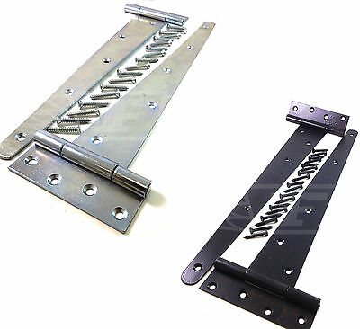 "Levendig Pair Of Zinc Or Black Tee Hinges Light & Heavy Duty 4"" 6"" 8 "" 10"" 12"" 14"" 16"""