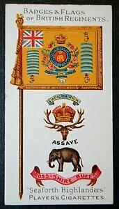 SEAFORTH HIGHLANDERS  Original 1904 Regimental Insignia Card