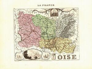 Carte du Département de l'OISE- vers 1874. Migeon bFvMQ6eP-09104859-546304238