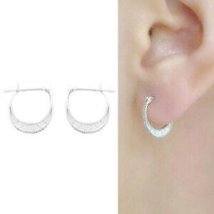 Solid-925-Sterling-Silver-Moon-Crescent-CZ-pendente-a-cerchio-con-cardine-Leverback-orecchini