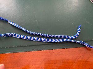 2 X Epq à Rayures Bleu Et Blanc Tissé à La Main Bracelets-afficher Le Titre D'origine Et Aide à La Digestion