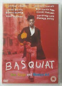 Basquiat 1996 Starring Jeffrey Wright David Bowie 2003 Region 2 Acceptable DVD