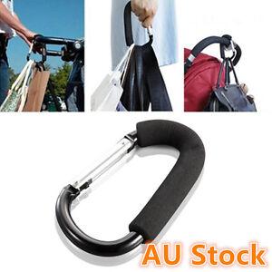 Baby Stroller Pram Diaper Shopping Bag Hanger Metal Hook Holder Clip Wide