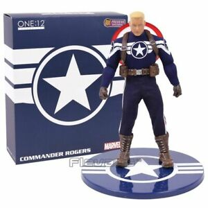 MEZCO-One-12-Captain-America-PVC-Action-Figure-Collectible-Model-Toy