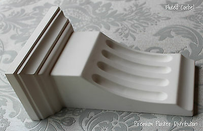 X1 Hand Made Fluted Traditional Victorian Plaster Corbels 270mm x 190mm x 110mm