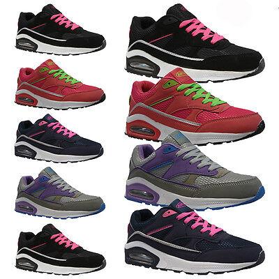 LADIES SPORTS TRAINERS GYM JOGGING RUNNING CASUAL TRAINER WOMENS GIRLS SIZE 3-8