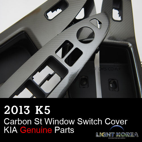 Carbon Mirror Switch Cover Handle Grip 4EA 1SET For KIA Optima 2011 2015