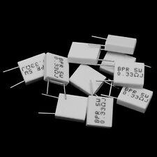 10x 5W 0.33Ohm Cement Resistor Non-Inductive Ceramics Resistor BPR56//CQC AWyu