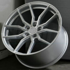 20x105 45 Flow Forged Aff1 5x1143 Concave Wheels Silver Rims 20 Inch Set 4