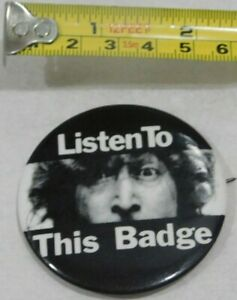 JOHN-LENNON-LISTEN-TO-THIS-BUTTON-BADGE-PIN-BACK-VINTAGE-EMI