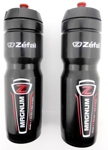 2x Fahrrad Trinkflaschen Magnum Zéfal 1000 ml schwarz