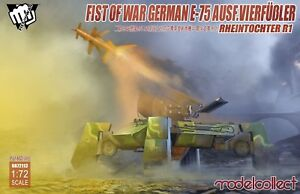 Modelcollect 1/72 Kits FistofWar GermanE75 AusfVierfubler RheintochterR1 UA72113
