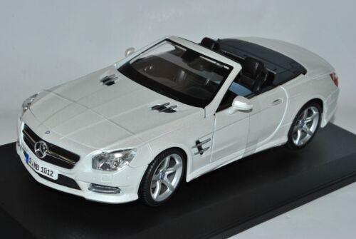 Mercedes-Benz SL500 SL Cabrio Weiss R231 Ab 2012 1//18 Maisto Modell Auto mit o..