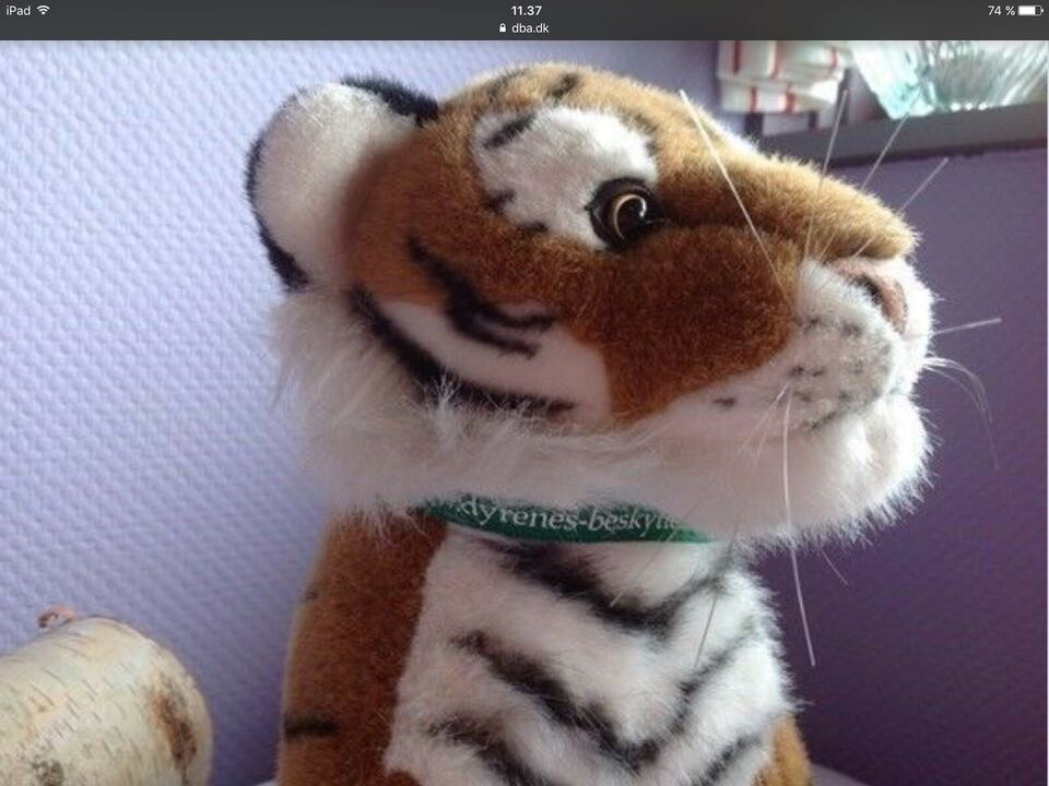 Tøjdyr Plysdyr Plysbamse Tiger Plys tiger Pynt , Dyrenes