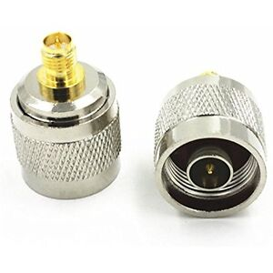 1 x New RP SMA Female Jack to N Type Male Plug RF Coaxial Adapter Connector hig