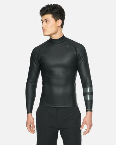 New $100 Hurley Advantage Plus 1.5mm Windskin Jacket Black Size Small
