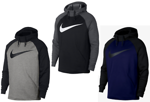 Mens-Nike-Colorblocked-Swoosh-THERMA-FIT-Pullover-Training-Hoodie-XL-NWT
