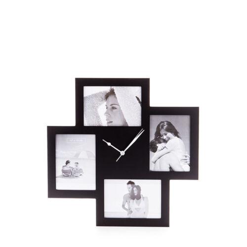 Tomasucci collage 4f orologio da parete nero