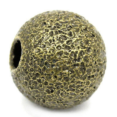 "200PCs Hot Bronze Tone Ball Spacer Beads 6mm(2/8"") Dia."