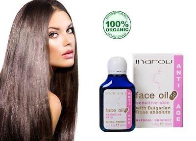 Natural & Pure Anti Age Anti Wrinkles Face Oil Sensitive Skin Bulgarian Rose :)