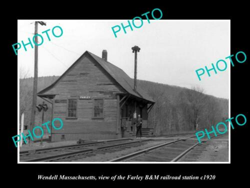 OLD 6 X 4 HISTORIC PHOTO OF WENDELL MASSACHUSETTS, FARLEY RAILROAD DEPOT c1920
