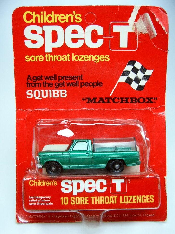 MATCHBOX rw 50c petits animaux camion d 'vert dans écotoxicologiques  spec-t  publicitaires boîte