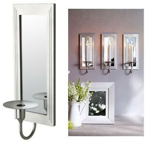 new ikea gemenskap wall sconce candle holder mirror glass aluminum frame ebay. Black Bedroom Furniture Sets. Home Design Ideas