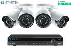 Kit of 4 Wireless Security Cameras FULL HD CCTV WiFi Phone View 1080P 4ch Ontario Preview