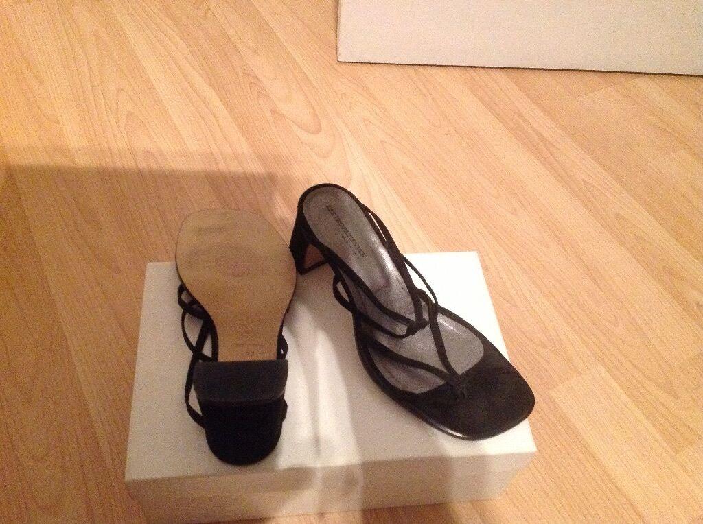 Les 4 tropeziennes black sandal size 4 Les 34ec03