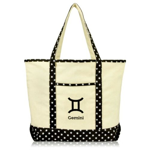 DALIX Zodiac Sign Shopping Tote Bag Horoscope Gifts
